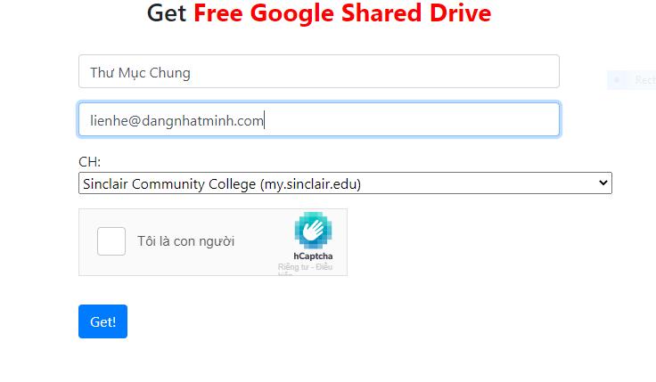 Trang web đăng ký Google Drive miễn phí không giới hạn dung lượng