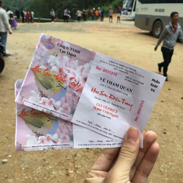 Giá vé Hoa Sơn Điền Trang