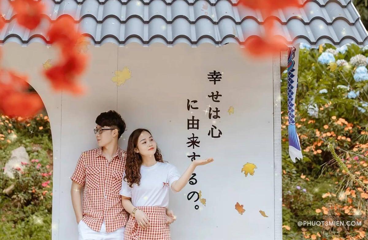 """Vườn hoa Anh Đào mang một phong cách rất """"Nhật Bản"""""""